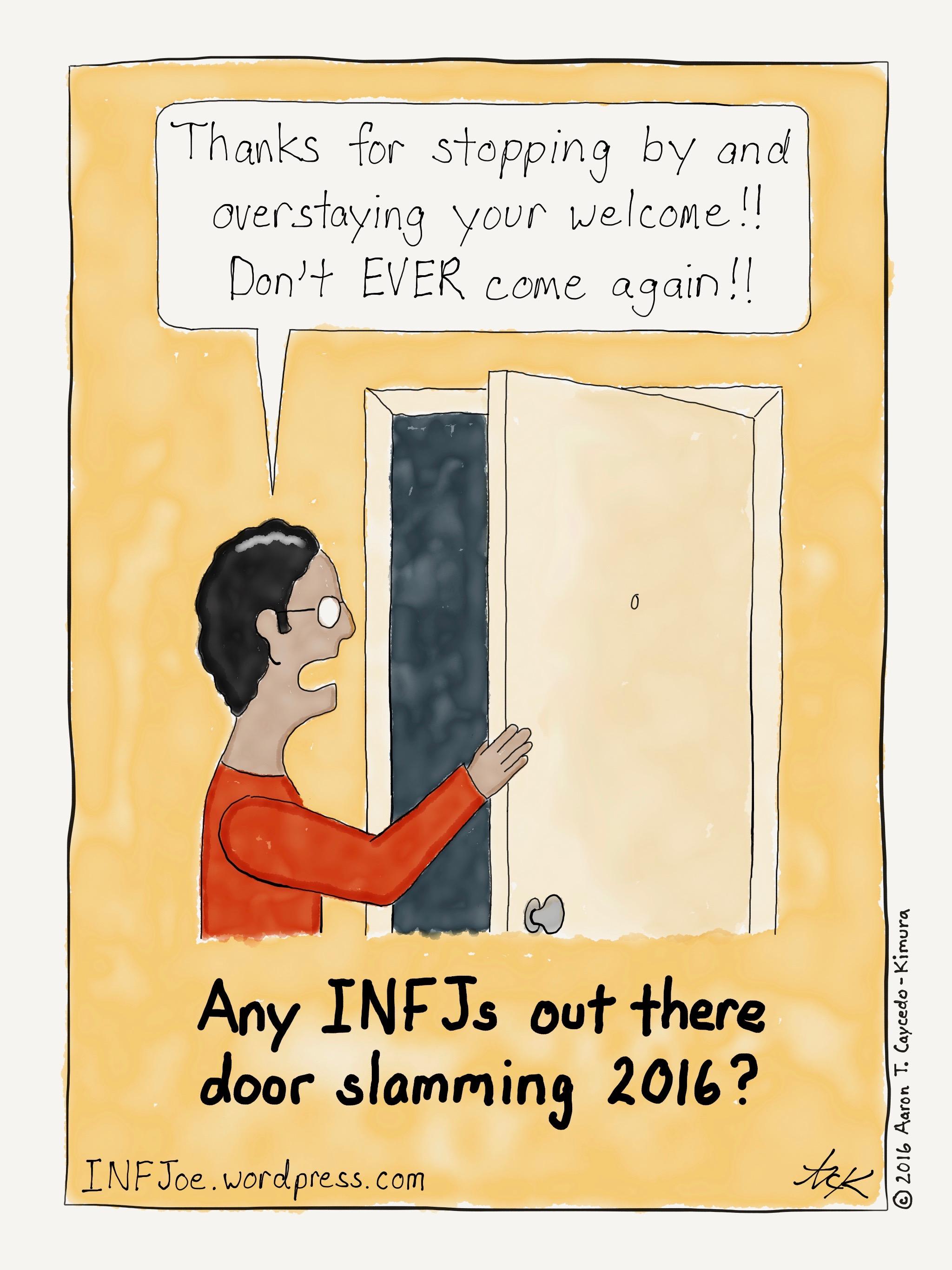 #INFJ Door Slamming | INFJoe Cartoons  sc 1 st  INFJoe Cartoons - WordPress.com & INFJ Door Slamming | INFJoe Cartoons pezcame.com
